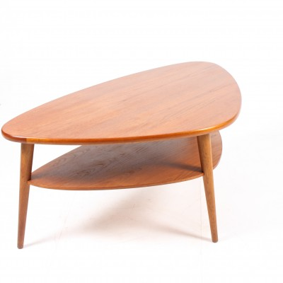 Danish Teak Coffee Table With Shelf